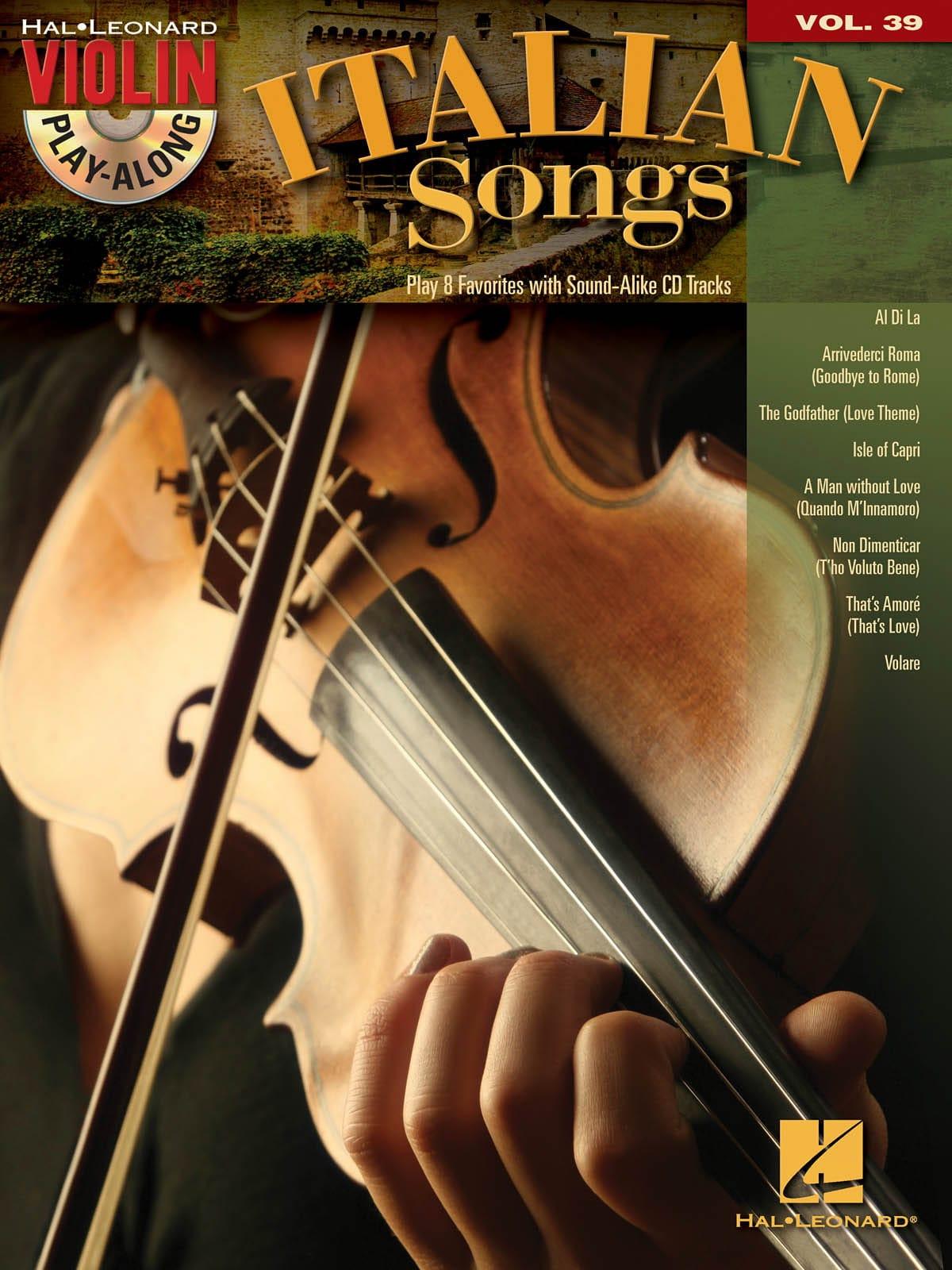 Violin play-along volume 39 - Italian songs - laflutedepan.com
