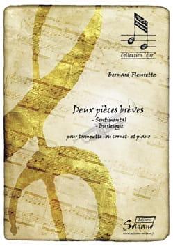 Deux pièces brèves - Bernard Fleurette - Partition - laflutedepan.com