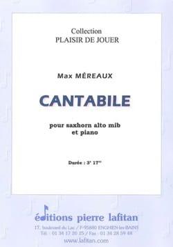 Cantabile - Max Méreaux - Partition - Tuba - laflutedepan.com
