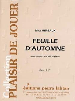 Feuille d'automne - Max Méreaux - Partition - Tuba - laflutedepan.com