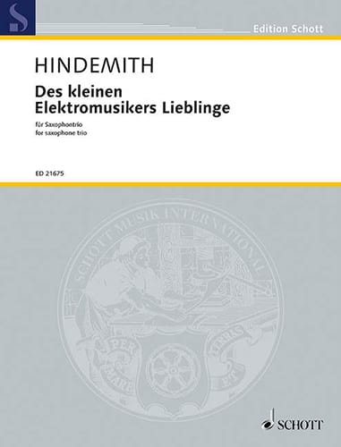 Paul Hindemith - Kleinen elektromusikers lieblinge - Partition - di-arezzo.co.uk