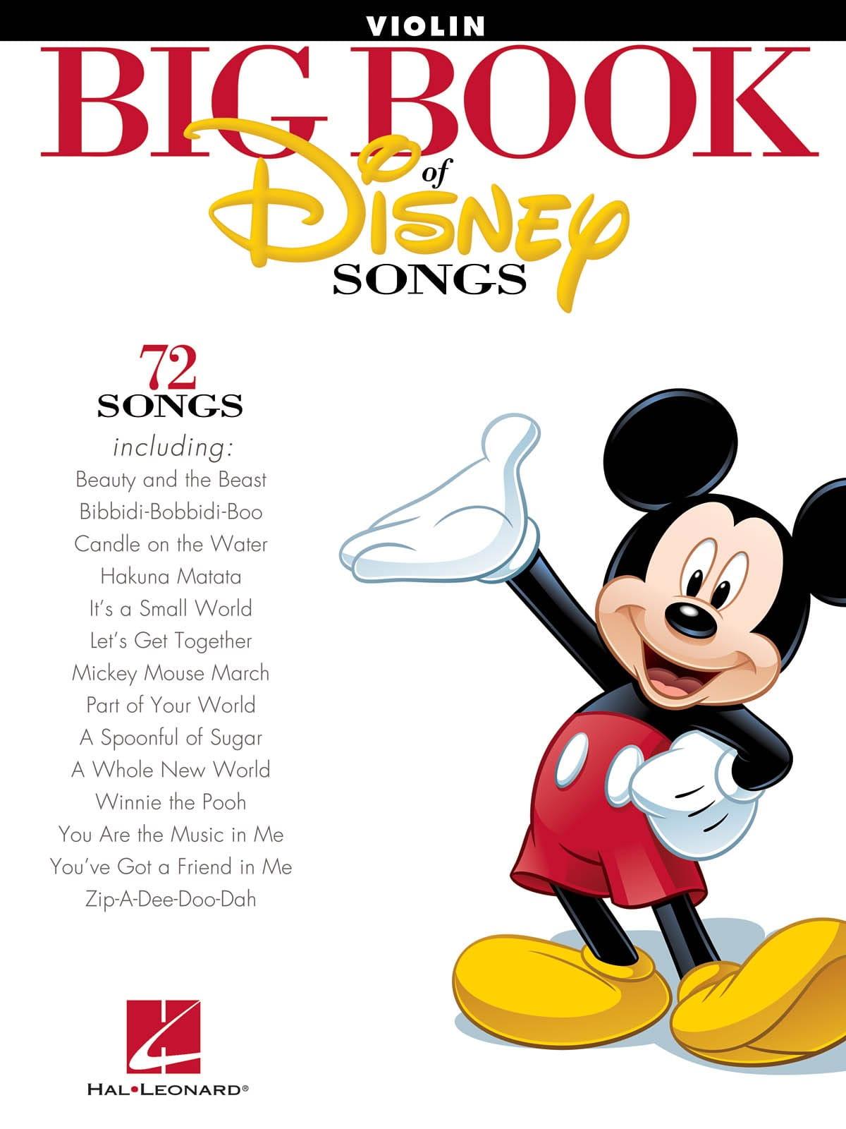 Big book of Disney songs - 72 Songs - DISNEY - laflutedepan.com