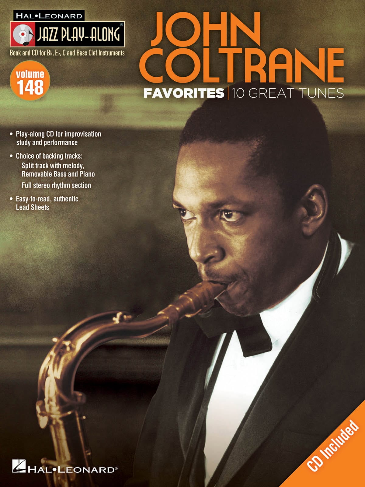 John Coltrane - Jazz play-along volume 148 - John Coltrane favorites - Partition - di-arezzo.fr