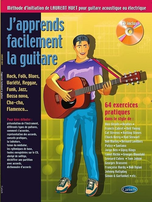 J'apprends facilement la guitare - 64 Exercices pratiques - laflutedepan.com