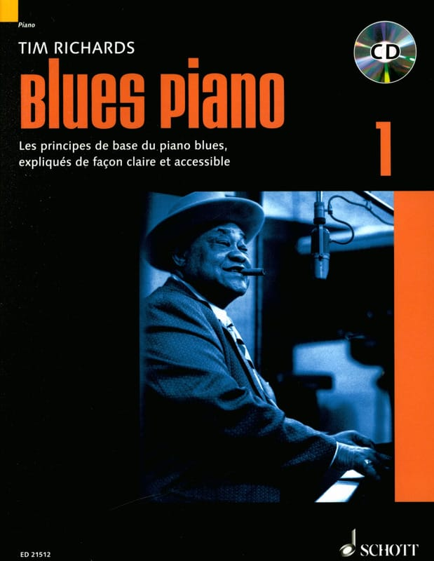 Tim Richards - Blues piano 1 - Edition in English - Partition - di-arezzo.com