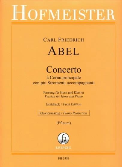 Concerto - Carl Friedrich Abel - Partition - Cor - laflutedepan.com