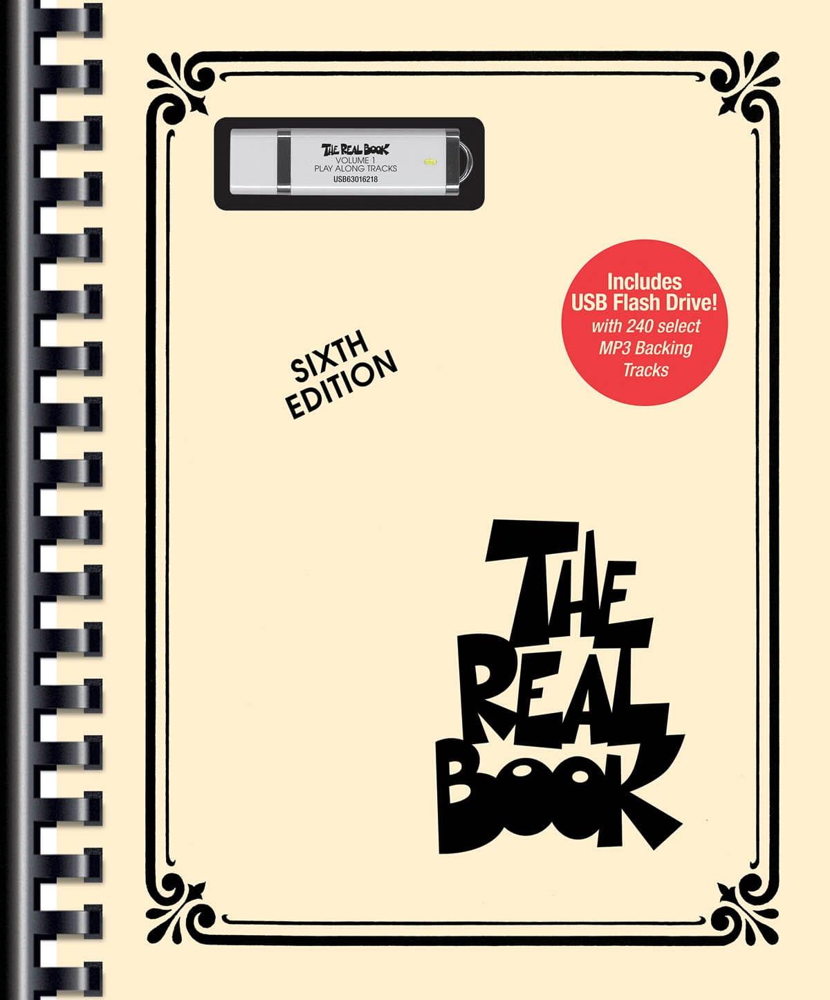 The Real Book Volume 1 - Sixth edition avec 240 mp3 sur clé USB - C Instruments - laflutedepan.com