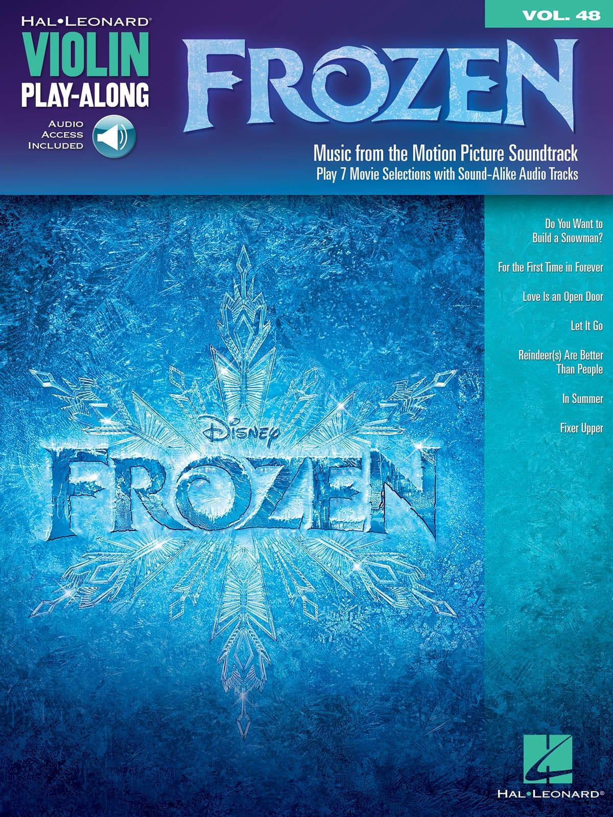 DISNEY - Violin Play-Along volumen 48 - Frozen - Partition - di-arezzo.es