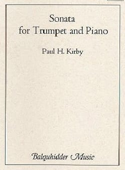 Sonata for trumpet and piano - Paul Kirby - laflutedepan.com