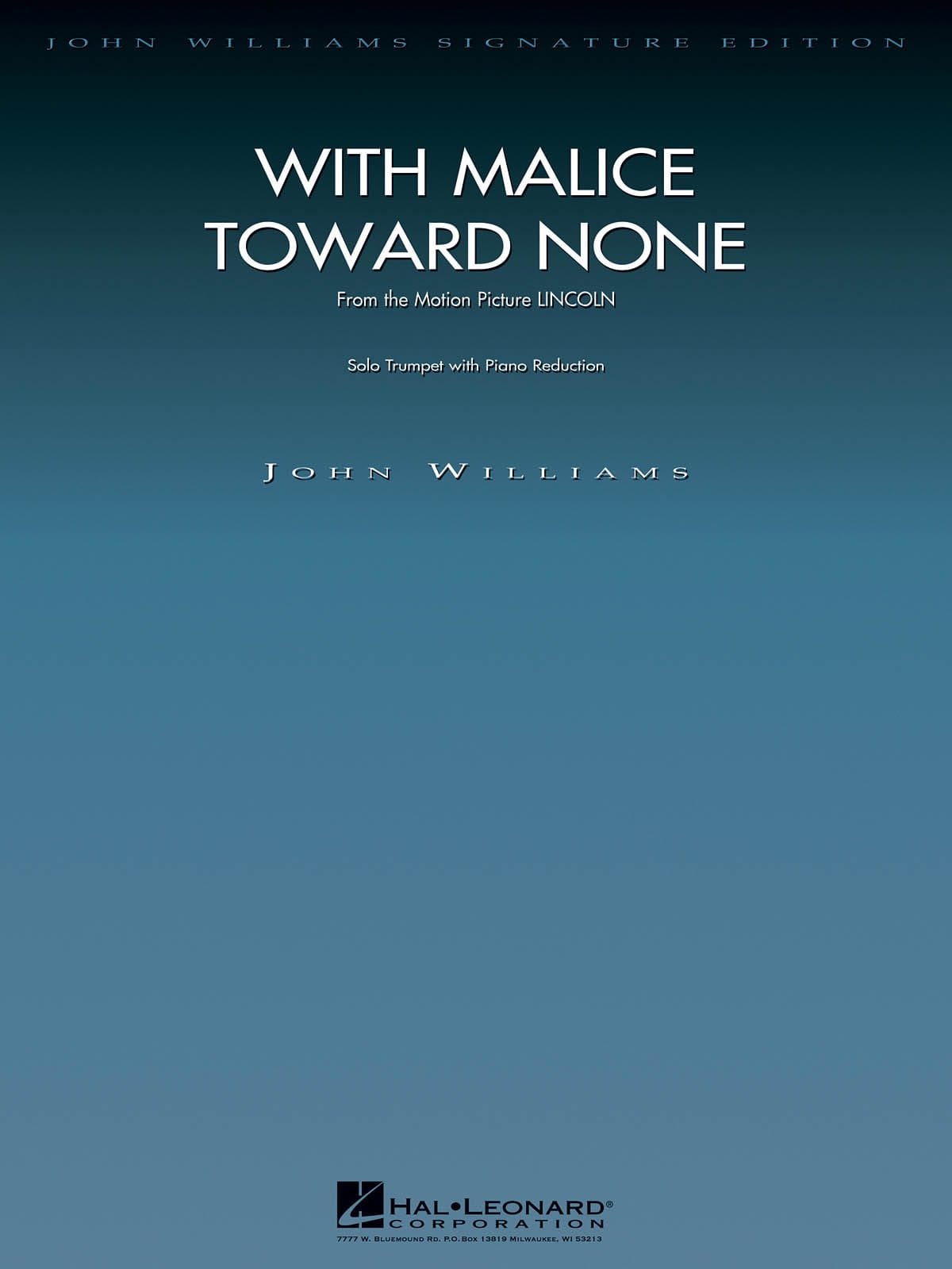 With Malice Toward None - John Williams - laflutedepan.com