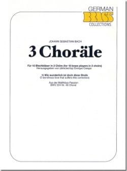 3 Choräle - BACH - Partition - Ensemble de cuivres - laflutedepan.com