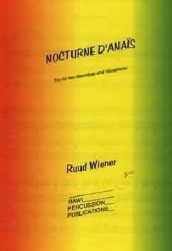 Nocturne d'Anais - Ruud Wiener - Partition - laflutedepan.com