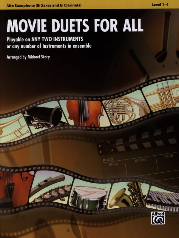 Movie duets for all - Partition - Saxophone - laflutedepan.com