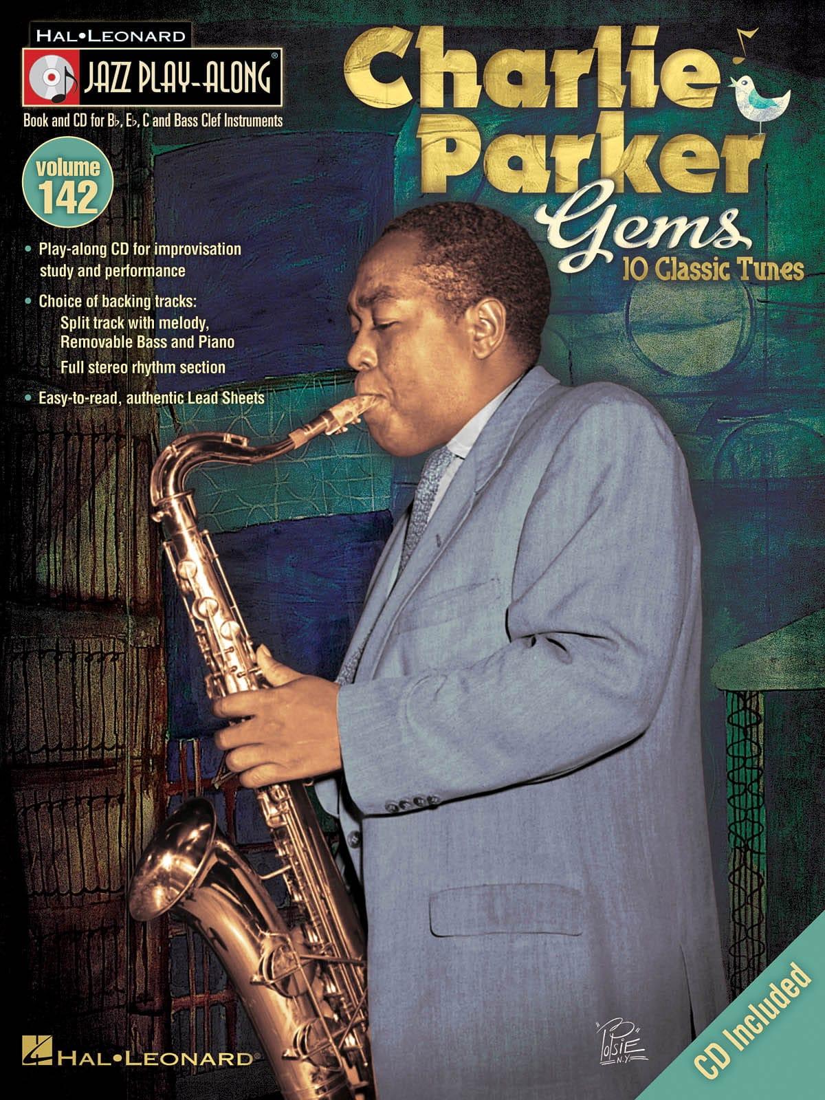 Jazz Play-Along Volume 142 - Charlie Parker Gems - laflutedepan.com