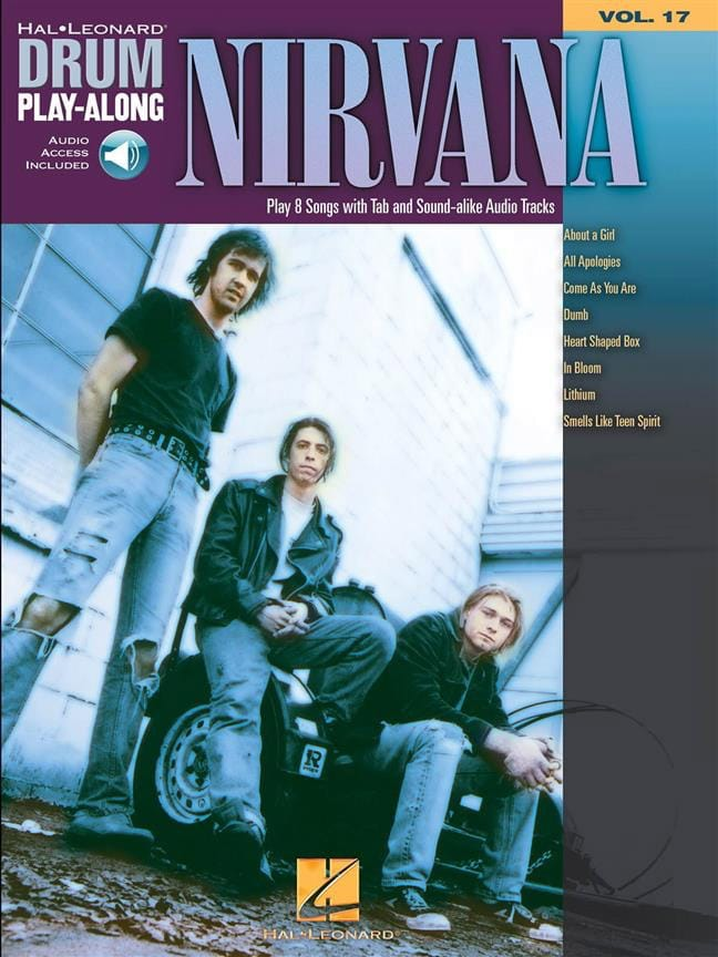 Nirvana - Drum play-along volume 17 - Partition - di-arezzo.co.uk