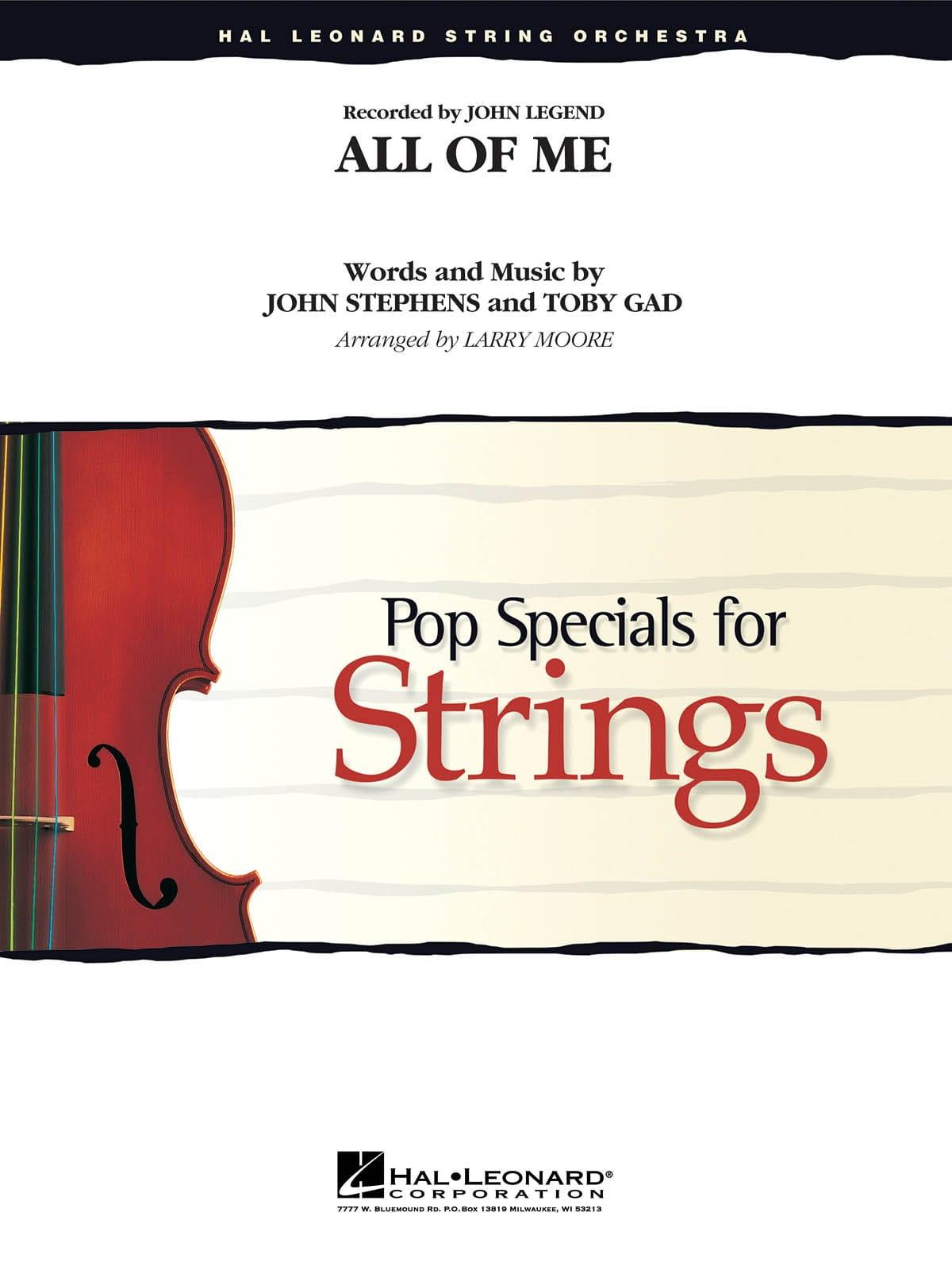 All of Me - Pop Specials for Strings - John Legend - laflutedepan.com