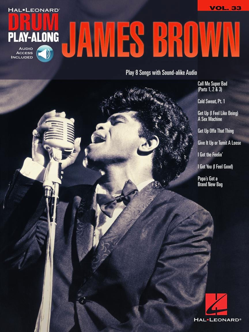 James Brown - Drum Play-Along Volume 33 - James Brown - Partition - di-arezzo.co.uk