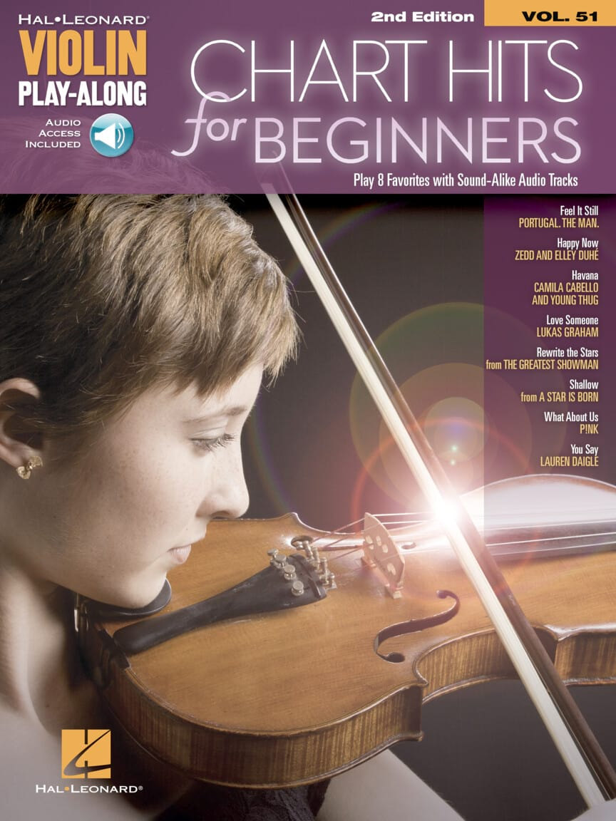 Violin Play-Along Volume 51 - Chart Hits for Beginners - 2nd edition - laflutedepan.com