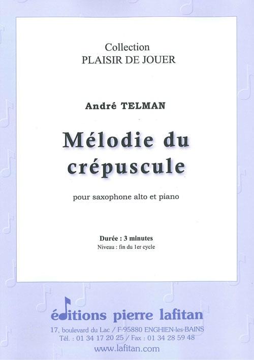 André Telman - Mélodie du Crépuscule - Partition - di-arezzo.fr