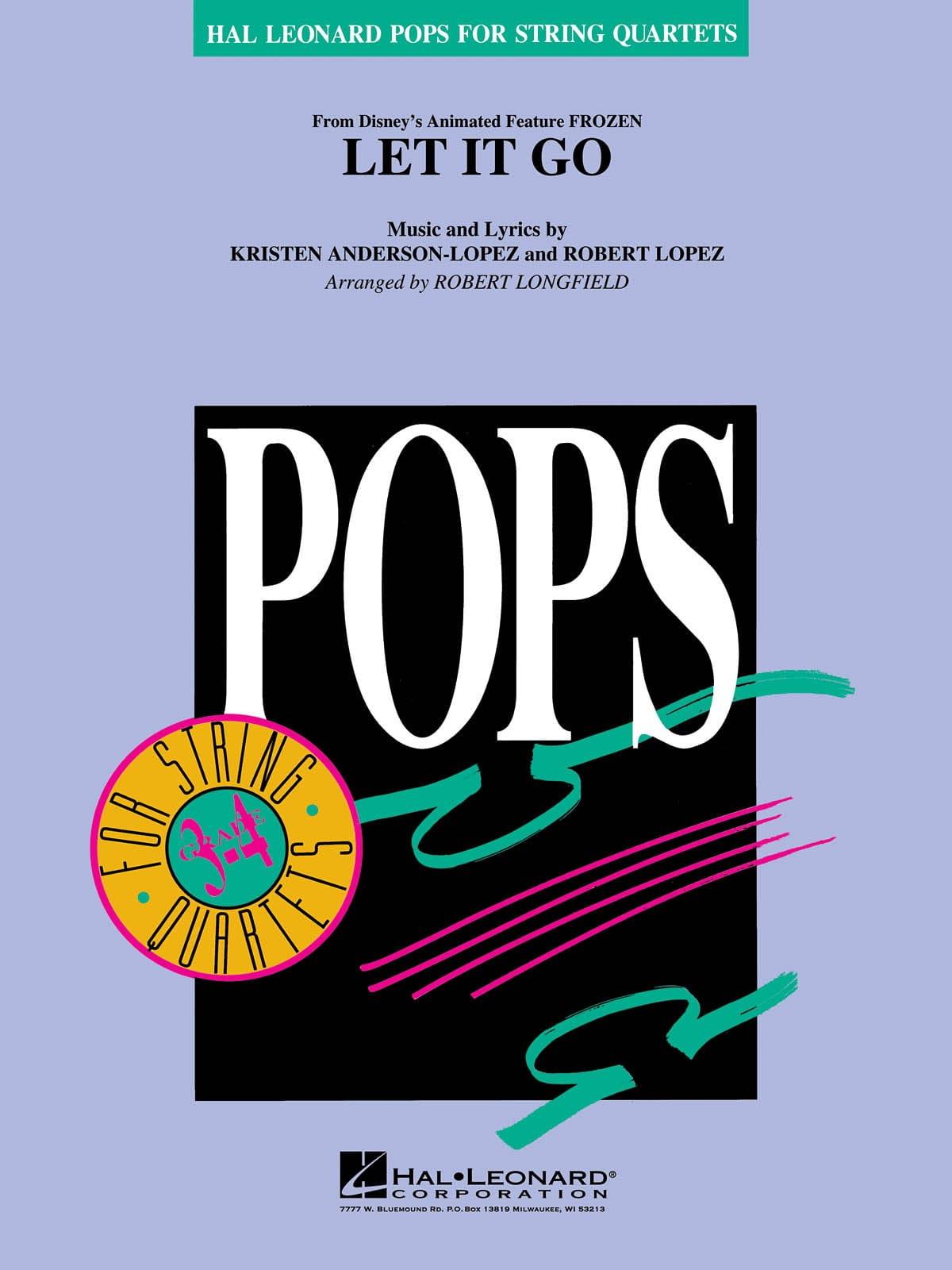 Libéré, Délivré Let It Go - Pops For String Quartets - laflutedepan.com