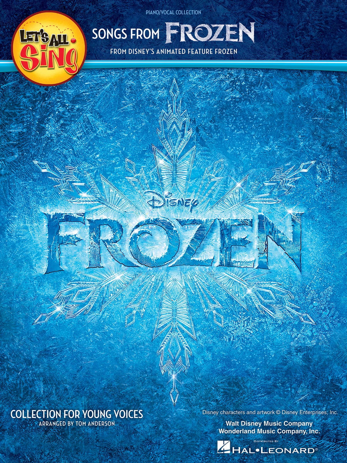 Disney Walt - Let's All Sing Songs from Frozen - Partition - di-arezzo.co.uk