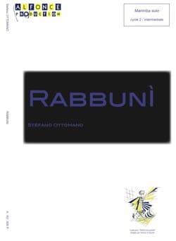 Rabbuni - Stefano Ottomano - Partition - Marimba - laflutedepan.com