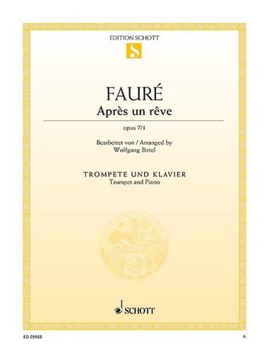 Après un rêve, op. 7/1 - FAURÉ - Partition - laflutedepan.com