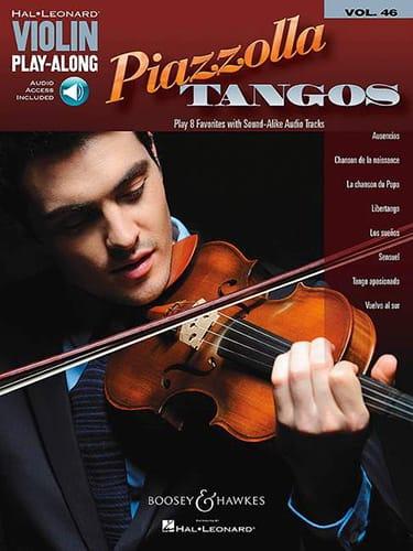Astor Piazzolla - Violin Play Along Volume 46 Piazzolla Tangos - Partition - di-arezzo.es