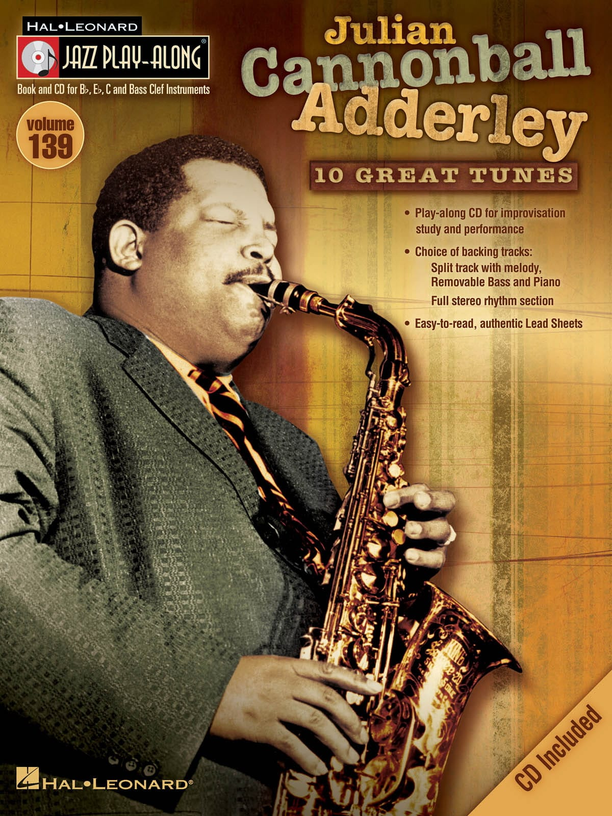 """Canonball Adderley - Jazz Play-Along Volume 139 - Julian """"Cannonball"""" Adderley - Partition - di-arezzo.co.uk"""