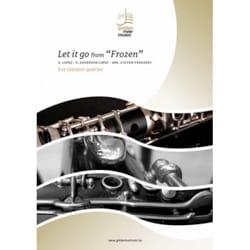 Let it go from Frozen - Clarinet quartet - DISNEY - laflutedepan.com