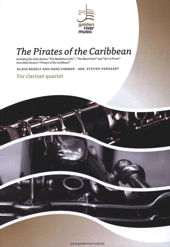 Klaus Badelt & Hans Zimmer - The Pirates of the Caribbean - Clarinet Quartet - Partition - di-arezzo.fr