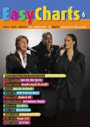 Easy Charts - Volume 6 - Partition - Pop / Rock - laflutedepan.com