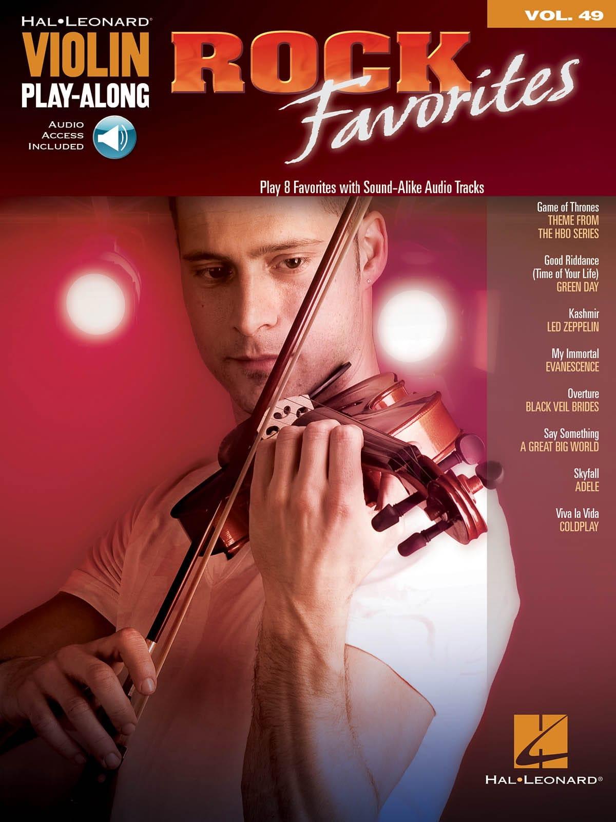 Violin Play-Along Volume 49 - Rock Favorites - laflutedepan.com