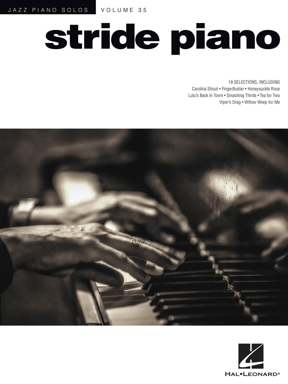 Jazz Piano Solos Series Volume 35 - Stride Piano - laflutedepan.com