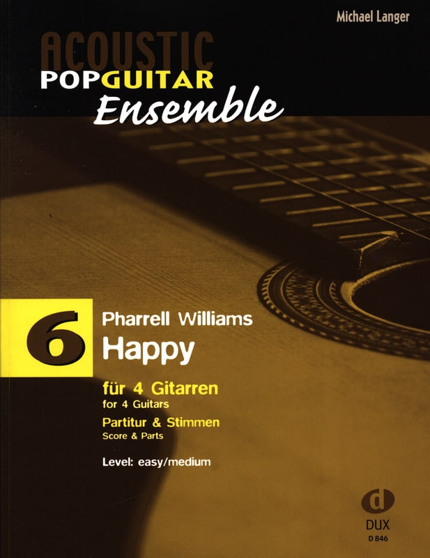 Happy - Acoustic pop guitar ensemble N°6 - laflutedepan.com