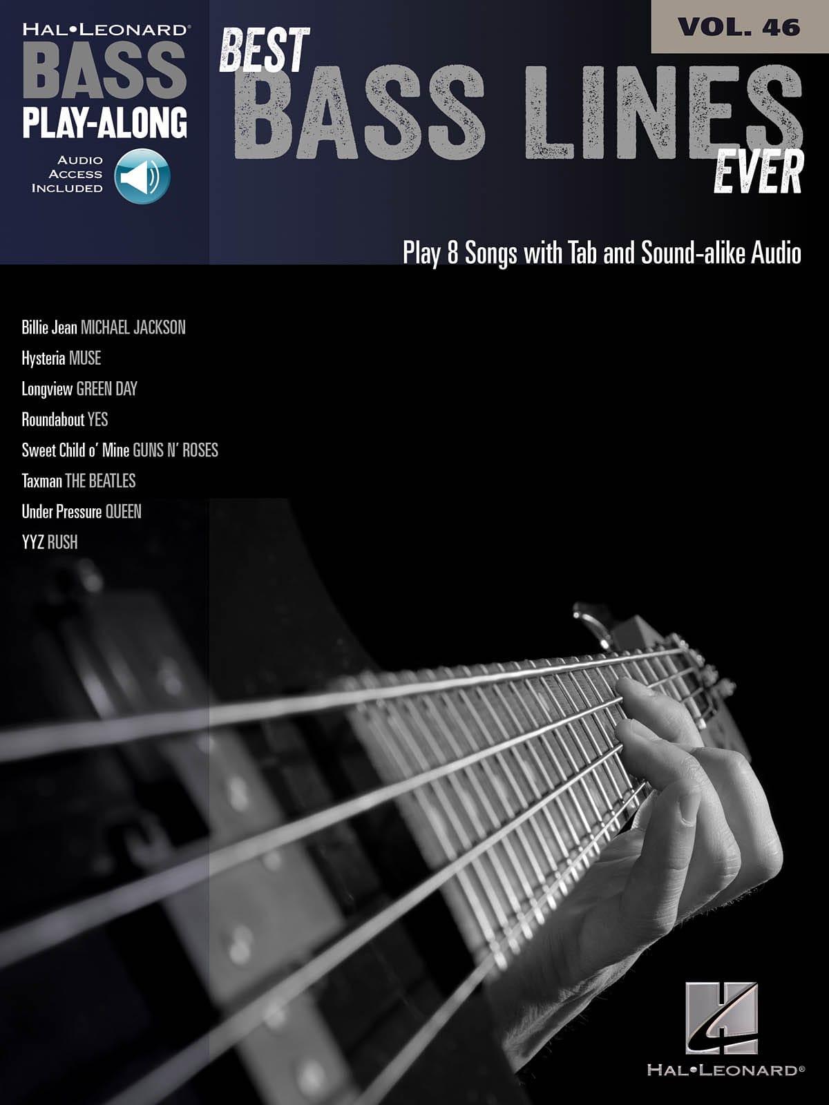 Bass Play-Along Volume 46 Best Bass Lines Ever - laflutedepan.com