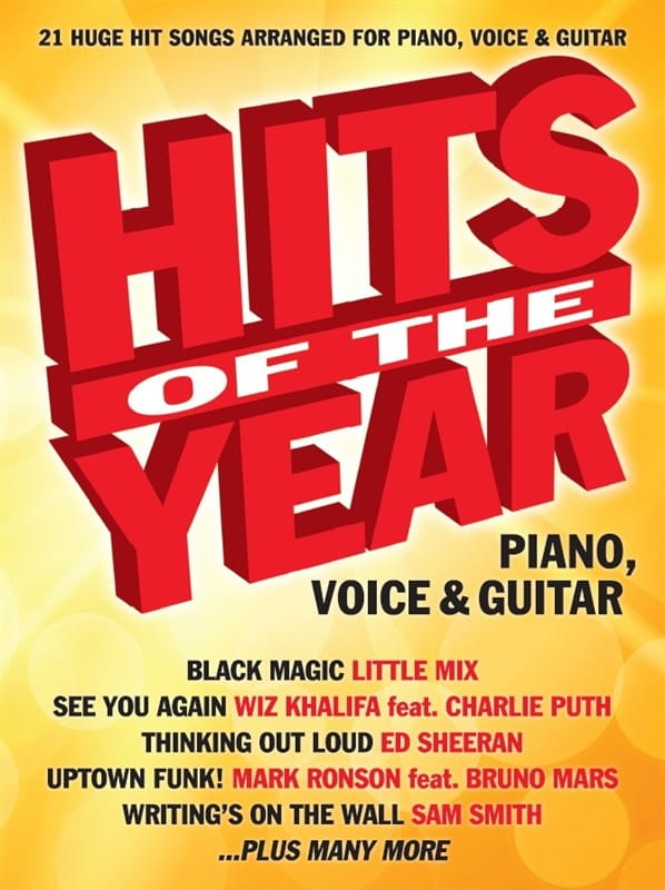 Hits Of The Year 2015 - Partition - Pop / Rock - laflutedepan.com