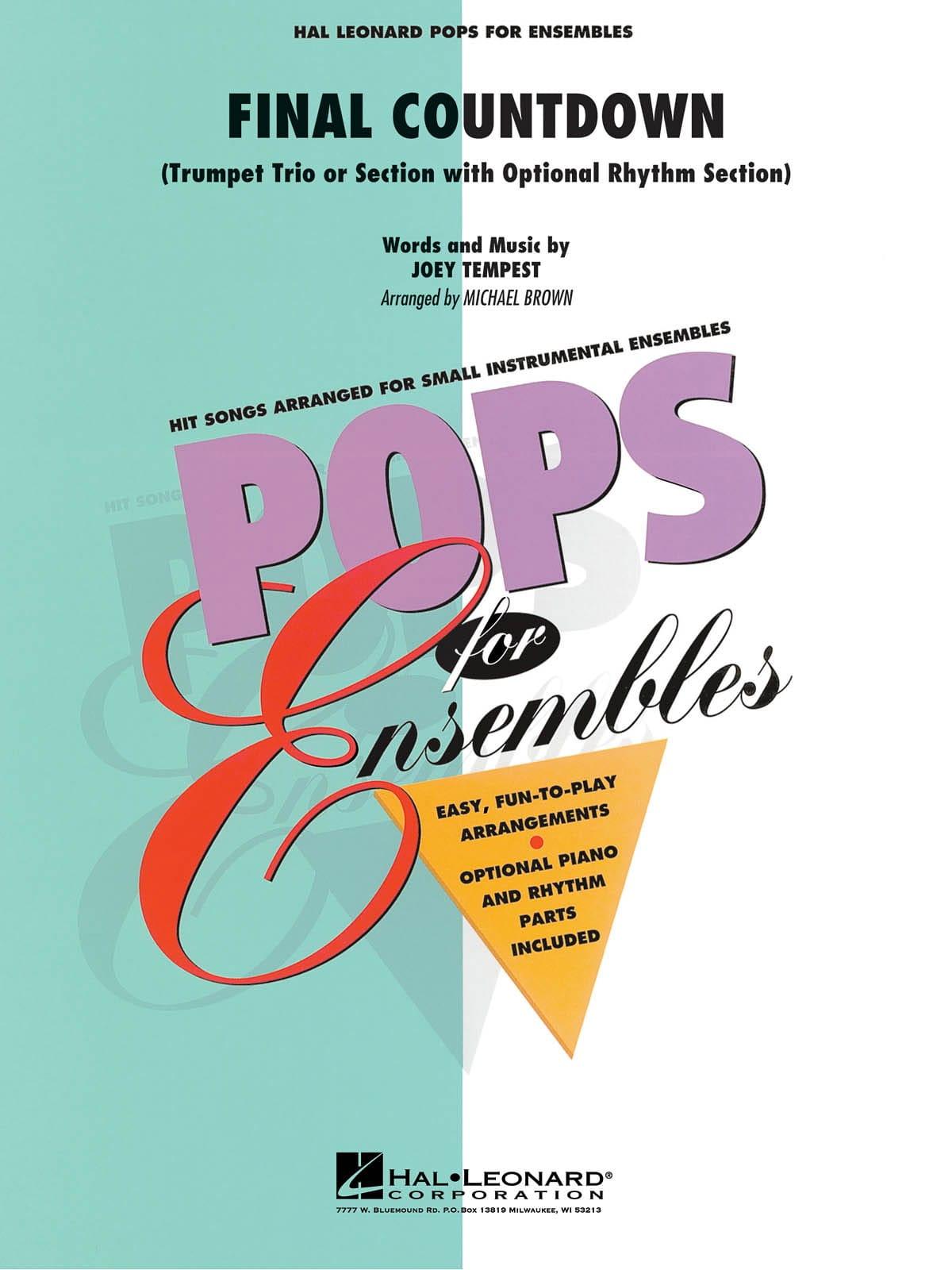 Final Countdown - Pops For Ensembles - laflutedepan.com