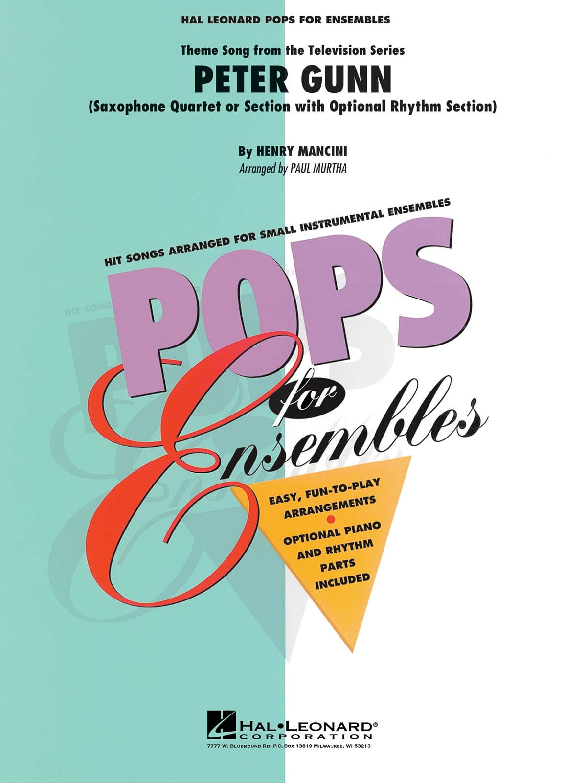 Henry Mancini - Peter Gunn - Pops For Sets - Partition - di-arezzo.com