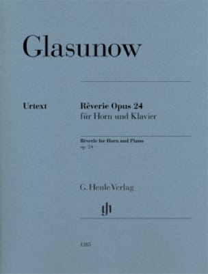 Alexander Glazounov - Reverie Opus 24 for Horn and Piano - Partition - di-arezzo.co.uk