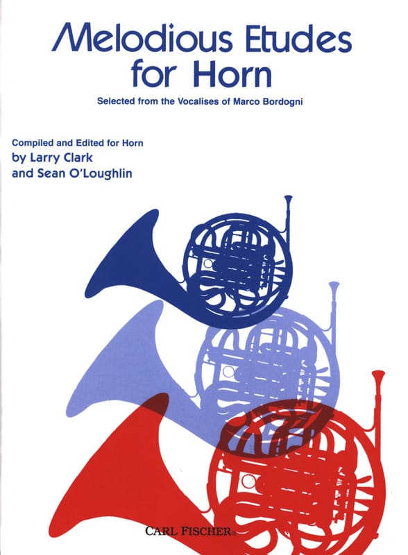 Melodious Etudes for Horn Selected from the Vocalises of Marco Bordogni - laflutedepan.com