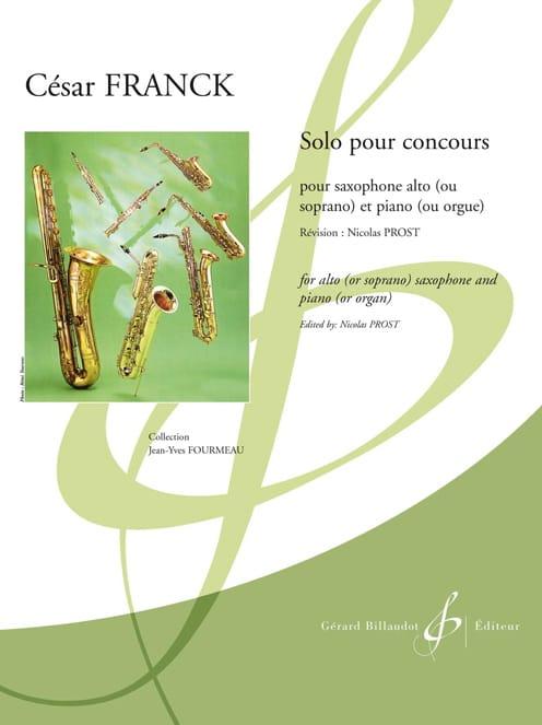 Solo pour Concours - FRANCK - Partition - Saxophone - laflutedepan.com