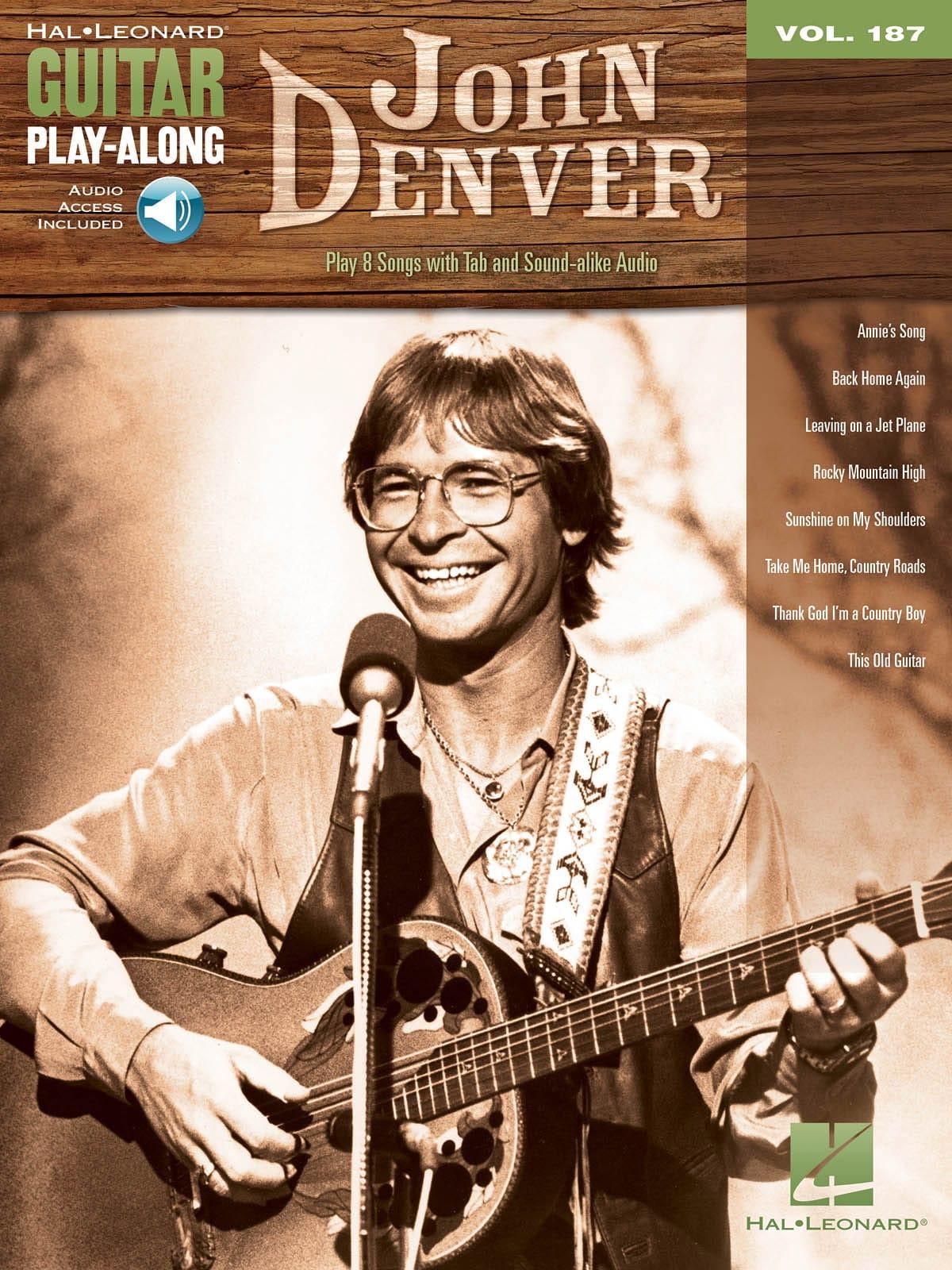 Guitar Play-Along Volume 187 John Denver - laflutedepan.com