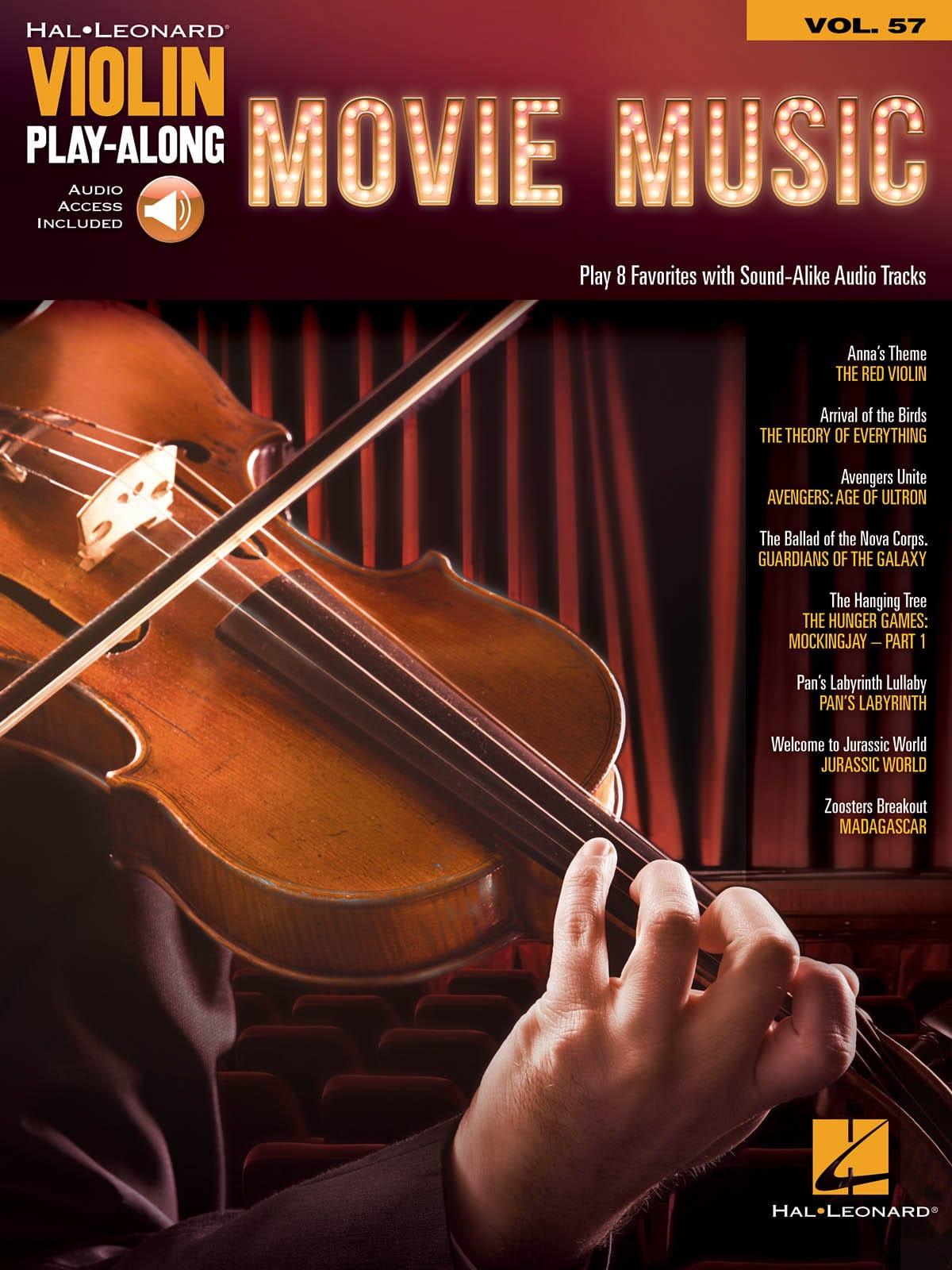 Violin Play-Along Volume 57 Movie Music - laflutedepan.com