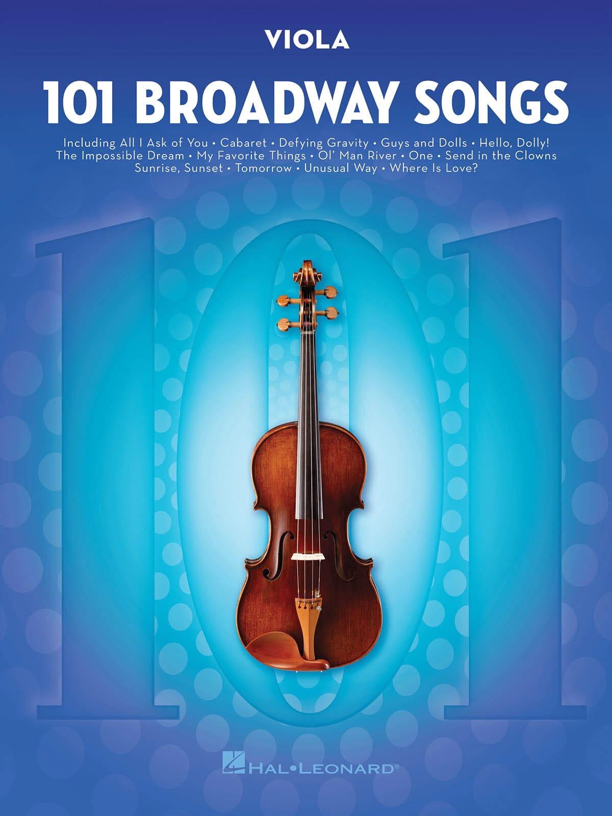 101 Broadway Songs for Viola - Partition - Alto - laflutedepan.com