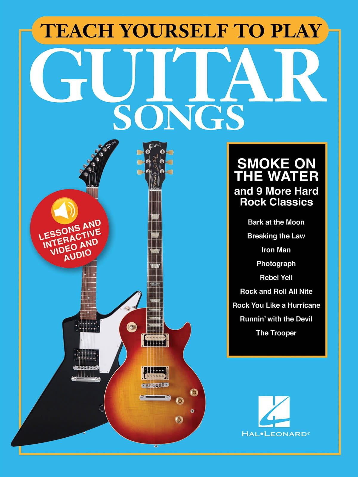 """- Teach Yourself To Play Guitar Songs - """"Smoke On The Water"""" - 9 More Ha - Partition - di-arezzo.co.uk"""