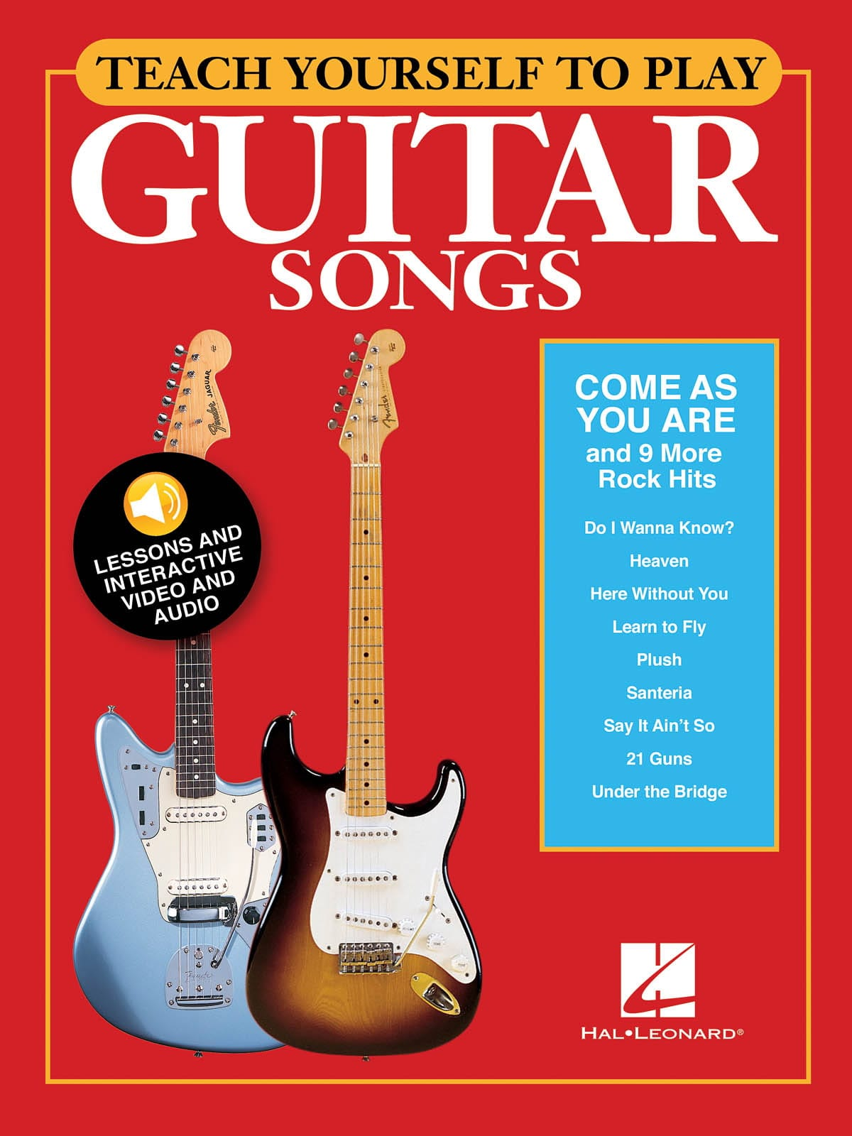 """Teach Yourself to Play Guitar Songs - """"Come As You Are"""" & 9 More Rock Hits - laflutedepan.com"""