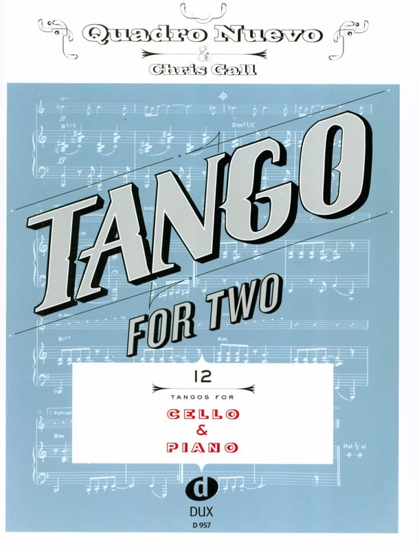 - Tango For Two - Violoncelle & Piano - Partition - di-arezzo.fr