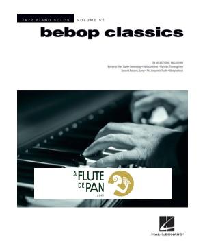 Jazz Piano Solos Series Volume 52 - Bebop Classics - laflutedepan com