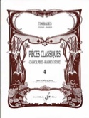 Pièces Classiques Volume 4 Partition Timbales - laflutedepan.com